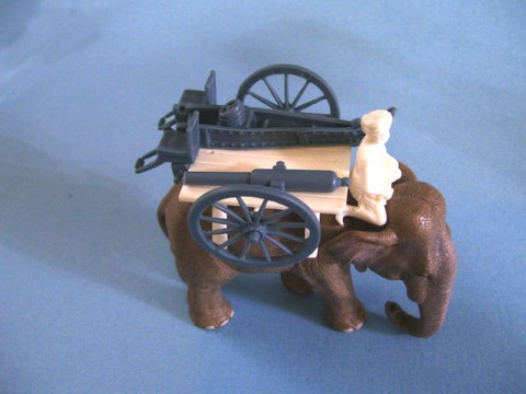 Elephant Carrying 7 Pound Artillery Gun