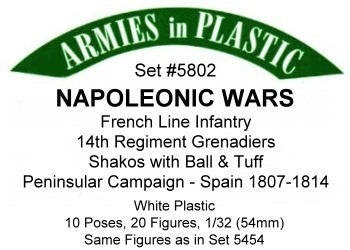 Armies in Plastic Napoleonic Spanish Line Infantry Peninsular Campaign 54mm